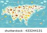 animals world map  north... | Shutterstock . vector #433244131