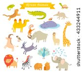 africa animals illustration.... | Shutterstock . vector #433244911