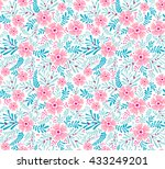 cute pattern in small flower.... | Shutterstock .eps vector #433249201
