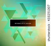 geometric vector background.... | Shutterstock .eps vector #433251307