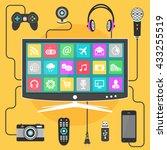 smart tv vector design template.... | Shutterstock .eps vector #433255519