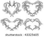 vector set of scroll design... | Shutterstock .eps vector #43325605