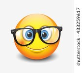 cute smiling emoticon wearing... | Shutterstock .eps vector #433259617