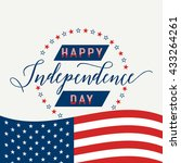 happy independence day. july... | Shutterstock .eps vector #433264261
