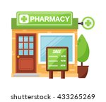 vector pharmacy drugstore... | Shutterstock .eps vector #433265269