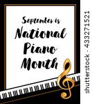 piano month poster  national... | Shutterstock .eps vector #433271521