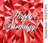 happy birthday abstract card... | Shutterstock . vector #433272541