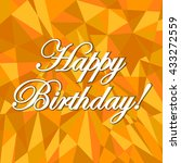 happy birthday abstract orange... | Shutterstock . vector #433272559