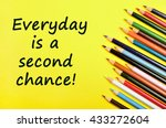 text everyday is a second... | Shutterstock . vector #433272604