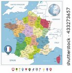 administrative divisions map of ... | Shutterstock .eps vector #433273657
