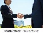 successful businesspeople shake ... | Shutterstock . vector #433275019