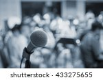 music equipment microphone and... | Shutterstock . vector #433275655