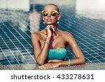 young woman in sunglasses in...   Shutterstock . vector #433278631