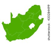 south africa map country icon | Shutterstock .eps vector #433284499