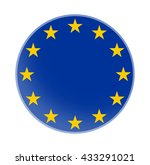 europe stars blue flag symbol | Shutterstock . vector #433291021