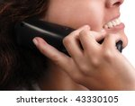 close up of woman lips talking... | Shutterstock . vector #43330105