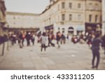 blurred town center in bath... | Shutterstock . vector #433311205