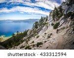 Mountain biker on the Tahoe Flume Trail.