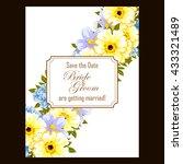 vintage delicate invitation...   Shutterstock .eps vector #433321489