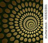 abstract golden circle spiral... | Shutterstock .eps vector #433323301