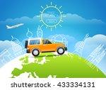 take vakation around the world. ... | Shutterstock .eps vector #433334131