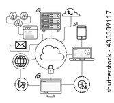 technology  database  mobile... | Shutterstock .eps vector #433339117