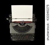 Image Of Vintage Typewriter...