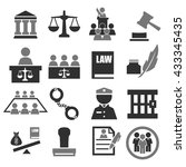 attorney  court  law icon set | Shutterstock .eps vector #433345435