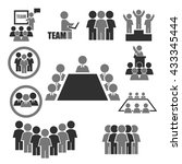 ally  alliance  team icon set | Shutterstock .eps vector #433345444