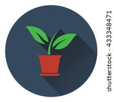 plant in flower pot icon. flat...