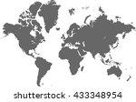 vector complete world map   Shutterstock .eps vector #433348954