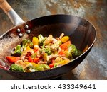 tasty vegetable dish with... | Shutterstock . vector #433349641