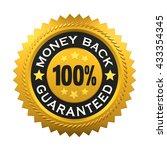 money back guaranteed label. 3d ...