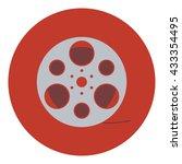 film reel icon. flat design....
