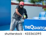 Small photo of HUA HIN, THAILAND-JUNE 7:Aditya Deswal of India returns a ball during Day 2 of The Qaunt Group ATT Thailand M3 on June 7, 2016 at True Arena Hua Hin in Hua Hin, Thailand
