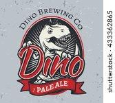 t rex brewery insignia design.... | Shutterstock .eps vector #433362865