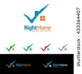 check home  real estate vector... | Shutterstock .eps vector #433364407