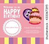 happy birthday card design.... | Shutterstock .eps vector #433367395