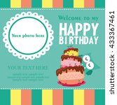 happy birthday card design.... | Shutterstock .eps vector #433367461