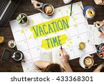 vacation break journey leave... | Shutterstock . vector #433368301