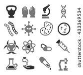 biohazard  toxic icon set | Shutterstock .eps vector #433369534