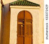 orange   window in morocco... | Shutterstock . vector #433372429