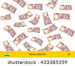 flying indian rupee banknote.... | Shutterstock .eps vector #433385359