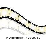 film strip background with... | Shutterstock . vector #43338763