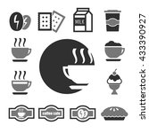 coffee shop icon set | Shutterstock .eps vector #433390927