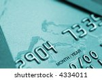 Credit card close up - stock photo