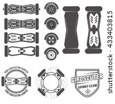 electric scooter labels vector   Shutterstock .eps vector #433403815