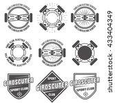 electro scooter labels vector   Shutterstock .eps vector #433404349