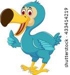 cute dodo bird cartoon thumb up | Shutterstock .eps vector #433414219