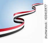 yemeni flag wavy abstract... | Shutterstock . vector #433415977